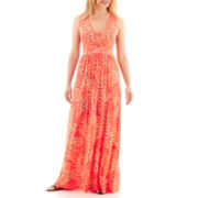 St. John's Bay® Sleeveless Tiered Maxi Dress - Petite