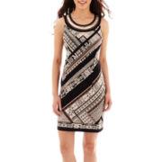 Studio 1® Sleeveless Embellished Neck Sheath Dress - Petite