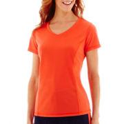 Made For Life™ Short-Sleeve V-Neck Mesh T-Shirt - Tall