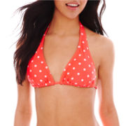 Arizona Polka Dot Slider Halter Swim Top - Juniors