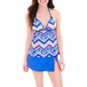 Arizona Halterkini Swim Top or Slit Skirted Bottoms - Juniors