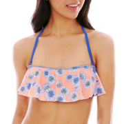 Arizona Flounce Floral Bandeau Swim Top - Juniors