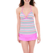 Arizona Halterkini Swim Top or Ruffled Skirted Bottoms - Juniors