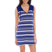 Wereabouts Sleeveless Striped Hoodie Dress Cover-Up