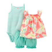 Carter's® 3-pc. Apparel Set - Baby Girls newborn-24m