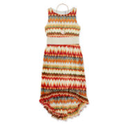 Knit Works High-Low Chevron Necklace Dress – Girls 7-16
