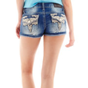Soundgirl Embroidered Denim Shorts