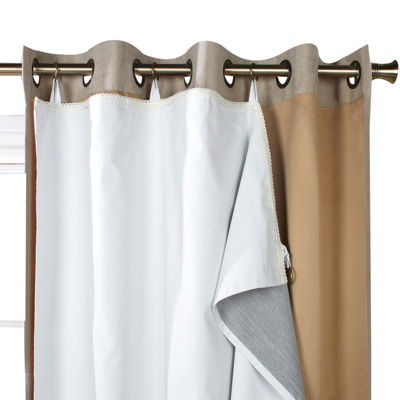 Ultimate Blackout Curtain Panel Liner Jcpenney Color White