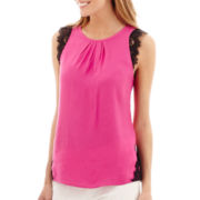 nicole by Nicole Miller® Lace-Trim Top
