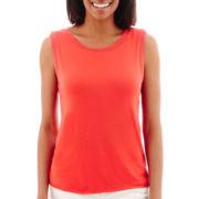 Liz Claiborne® Sweater Knit Tank Top