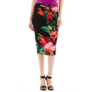 Bisou Bisou® Print Pencil Skirt