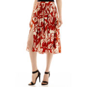 MNG by Mango® Print Midi Slit Skirt