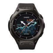 Casio® WSD-F10 Smart Outdoor Black Resin Strap Watch
