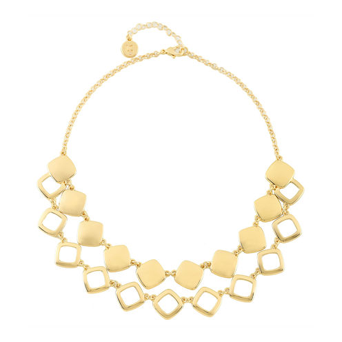 Liz Claiborne® Gold-Tone 2-Row Drama Necklace