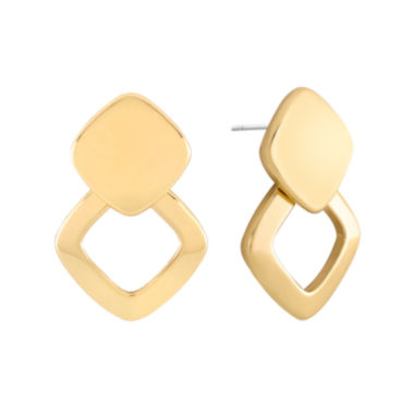 jcpenney.com | Liz Claiborne® Gold-Tone Doorknocker Earrings