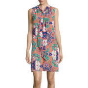 Self Esteem® Sleeveless Print Bow Dress