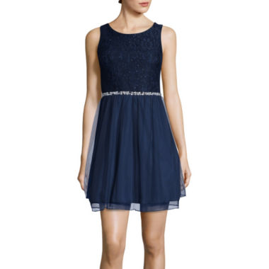 jcpenney.com | Speechless® Sleeveless Embellished Waist Party Dress