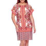 Studio 1® Short-Sleeve Sheath Dress - Plus