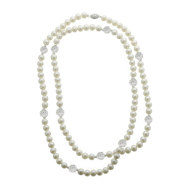 jcpenney.com | Cultured Freshwater Pearl & Crystal Sterling Silver Strand Necklace