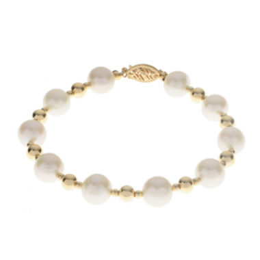 jcpenney.com | Cultured Freshwater Pearl 14K Gold Over Silver Bracelet