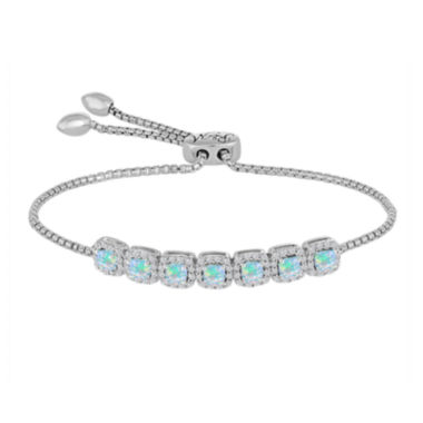 jcpenney.com | Rhythm and Muse Lab Created Opal & White Sapphire Sterling Silver Bracelet