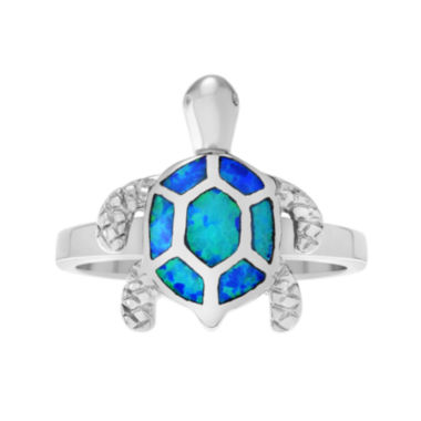 jcpenney.com | Genuine Blue Opal Sterling Silver Turtle Ring
