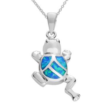 jcpenney.com | Journee Collection Genuine Opal & Cubic Zirconia Sterling Silver Frog Pendant Necklace