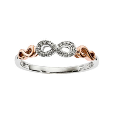 jcpenney.com | Diamond Accent 14K White and Rose Gold Infinity Symbol Ring