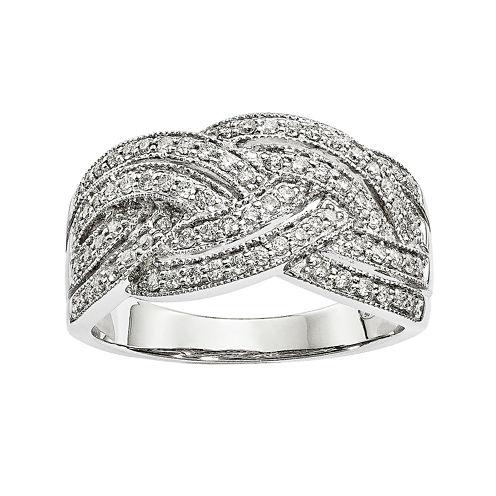 1/2 CT. T.W. Diamond 14K White Gold Ring