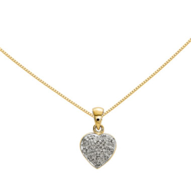 jcpenney.com | Diamond Accent 14K Yellow Gold Heart Pendant
