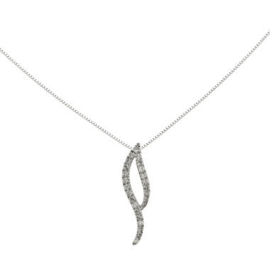 jcpenney.com | 1/6 CT. T.W. Diamond 14K White Gold Pendant Necklace