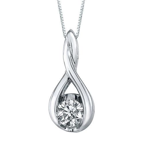Sirena® ⅛ CT. T.W. Diamond 14K Gold Pendant Necklace