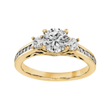 jcpenney.com | 1/2 CT. T.W. Diamond 14K Yellow Gold Three-Stone Engagement Ring