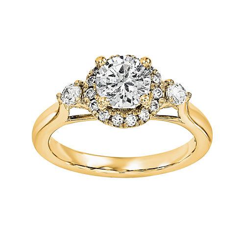 3/4 CT. T.W. Diamond 14K Yellow Gold Engagement Ring