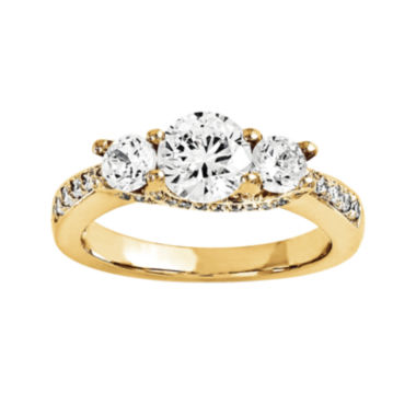 jcpenney.com | 1 CT. T.W. Diamond 14K Yellow Gold 3-Stone Engagement Ring
