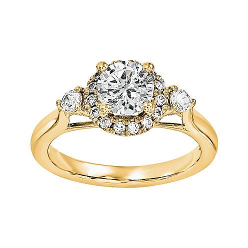 1 1/5 CT. T.W. Diamond 14K Yellow Gold Engagement Ring