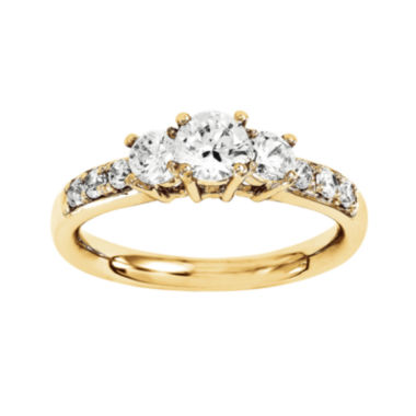 jcpenney.com | 1 3/4 CT. T.W. Diamond 14K Yellow Gold 3-Stone Ring