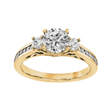 jcpenney.com | 1 1/5 CT. T.W. Diamond 14K Yellow Gold 3-Stone Engagement Ring