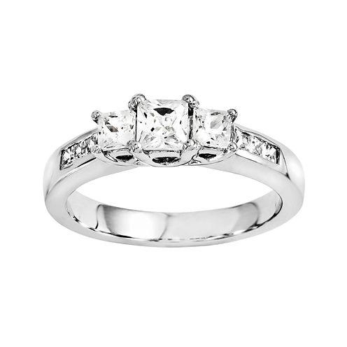 3/8 CT. T.W. Diamond 14K White Gold 3-Stone Ring