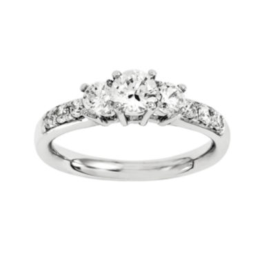 jcpenney.com | 5/8 CT. T.W. Diamond 14K White Gold Prong Set 3-Stone Ring
