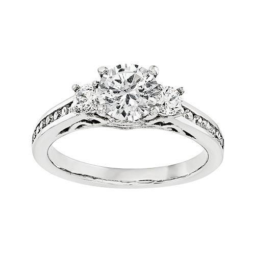 1/2 CT. T.W. Diamond 14K White Gold 3-Stone Engagement Ring