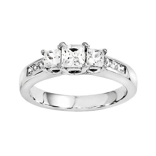 7/8 CT. T.W. Diamond 14K White Gold 3-Stone Ring