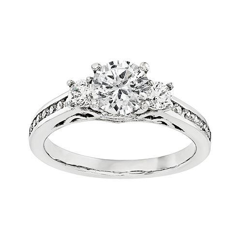 5/8 CT. T.W. Diamond 14K White Gold 3-Stone Engagement Ring