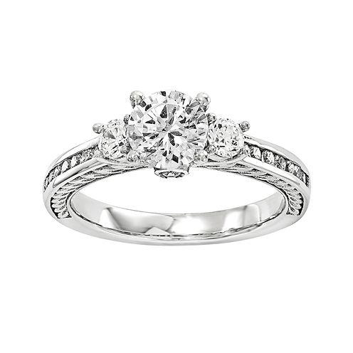 3/4 CT. T.W. Diamond 14K White Gold 3-Stone Engagement Ring