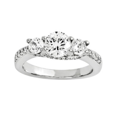 jcpenney.com | 1 CT. T.W. Diamond 14K White Gold  3-Stone Engagement Ring