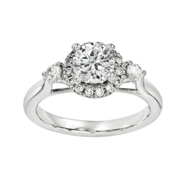 jcpenney.com | 1 1/5 CT. T.W. Diamond 14K White Gold Engagement Ring