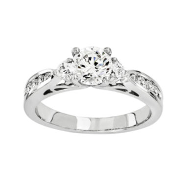 jcpenney.com | 1 1/5 CT. T.W. Diamond 14K White Gold 3-Stone Ring
