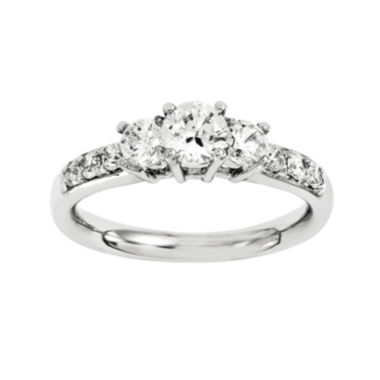 jcpenney.com | 1 3/4 CT. T.W. Diamond 14K White Gold  Prong Set 3-Stone Ring