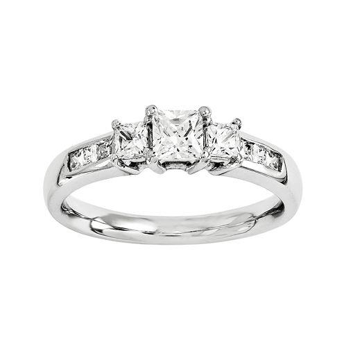 1 3/4 CT. T.W. Diamond 14K White Gold 3-Stone Engagement Ring