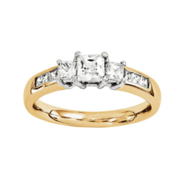 jcpenney.com | 1 3/8 CT. T.W. Diamond 14K Two-Tone Gold Engagement Ring